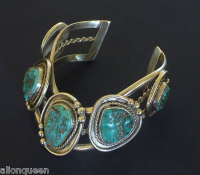 WILLOW SPRINGS Sterling Silver Turquoise CUFF BRACELET