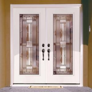 Feather River Doors 74 in. x 81.625 in. Preston Patina Full Lite Unfinished Smooth Left-Hand Inswing Fiberglass Double Prehung Front Door-643101-400 - The ... : doors preston - pezcame.com