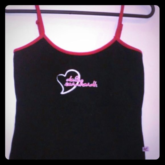 Dale Earnhardt Tank Top Black With Red Trim A Heart Earnhardts Name On