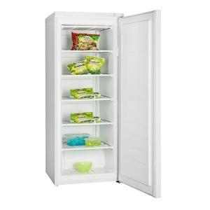 Igloo 6 5 Cu Ft Upright Freezer In White Frf690 The Home Depot Upright Freezer Freezer Tall Cabinet Storage