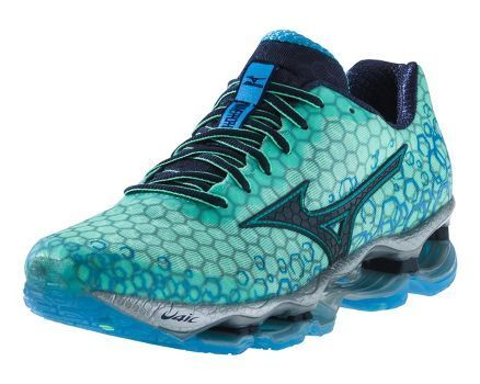 separation shoes 2e879 4b9ea Do these running shoes remind you of a mermaid tail with this scale  inspired pattern  Womens Mizuno Wave Prophecy 3 Running Shoe at Road Runner  Sports