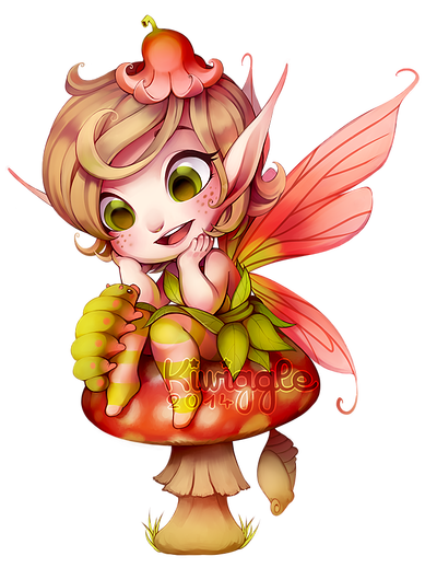 Pixie by Kiwiggle Golden Harlequin, Mythical Creatures