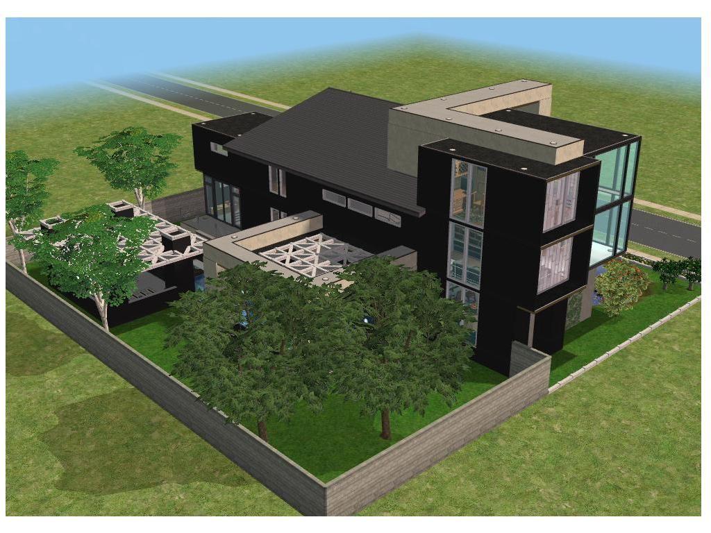 modern house sims 3 Modern House