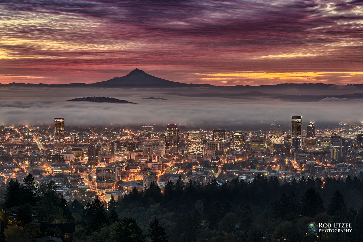 ***Awakening by Rob Etzel (Portland, Oregon with Mt. Hood in the background)