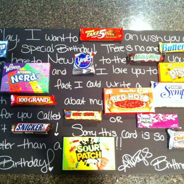 Candy bar birthday card birthday pinterest birthdays gift candy bar birthday card bookmarktalkfo Images