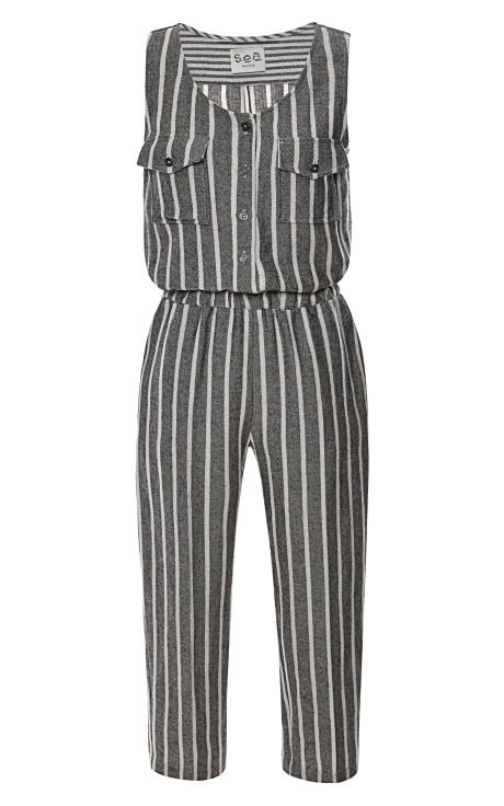 Japanese Stripes Tank Jumpsuit by Sea for Preorder on Moda Operandi