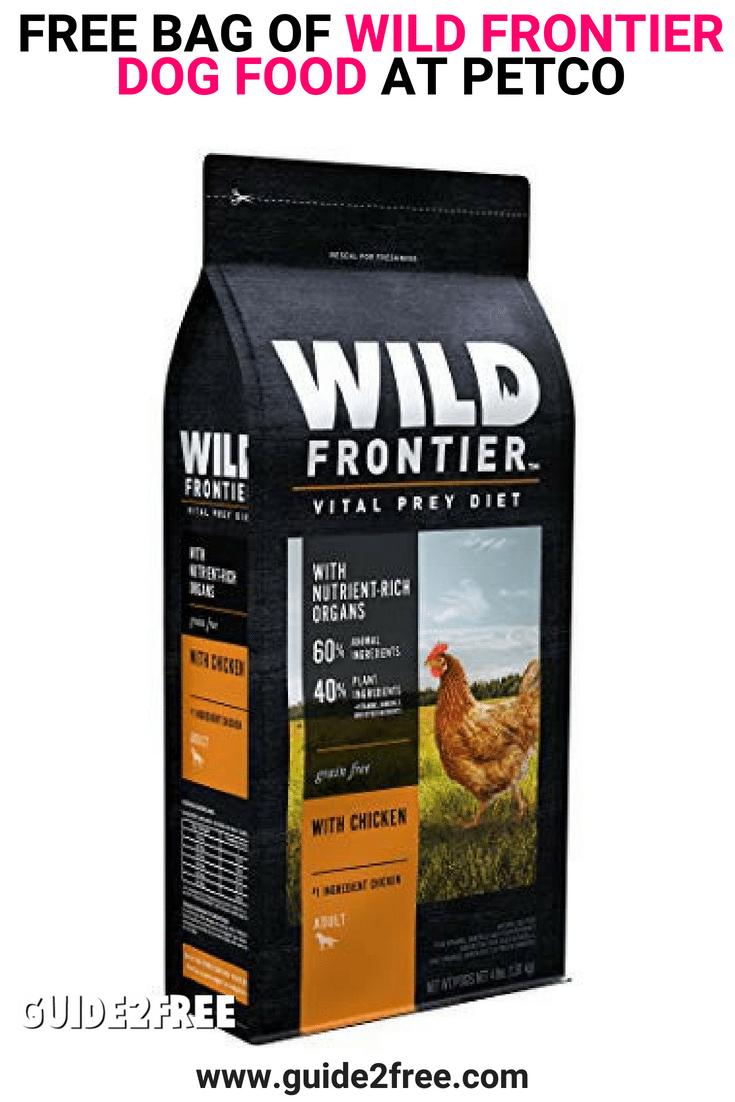 Free Bag Of Wild Frontier Dog Food At Petco Dog Food Recipes