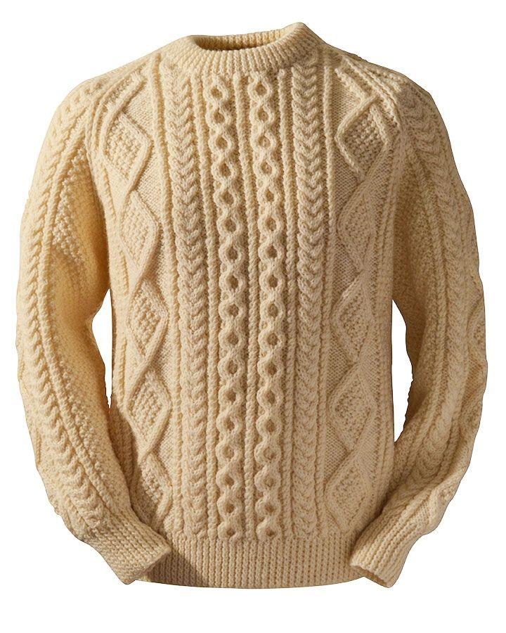 Cassidy Irish Handknit Sweaters   busos   Pinterest   Sueter hombre ...