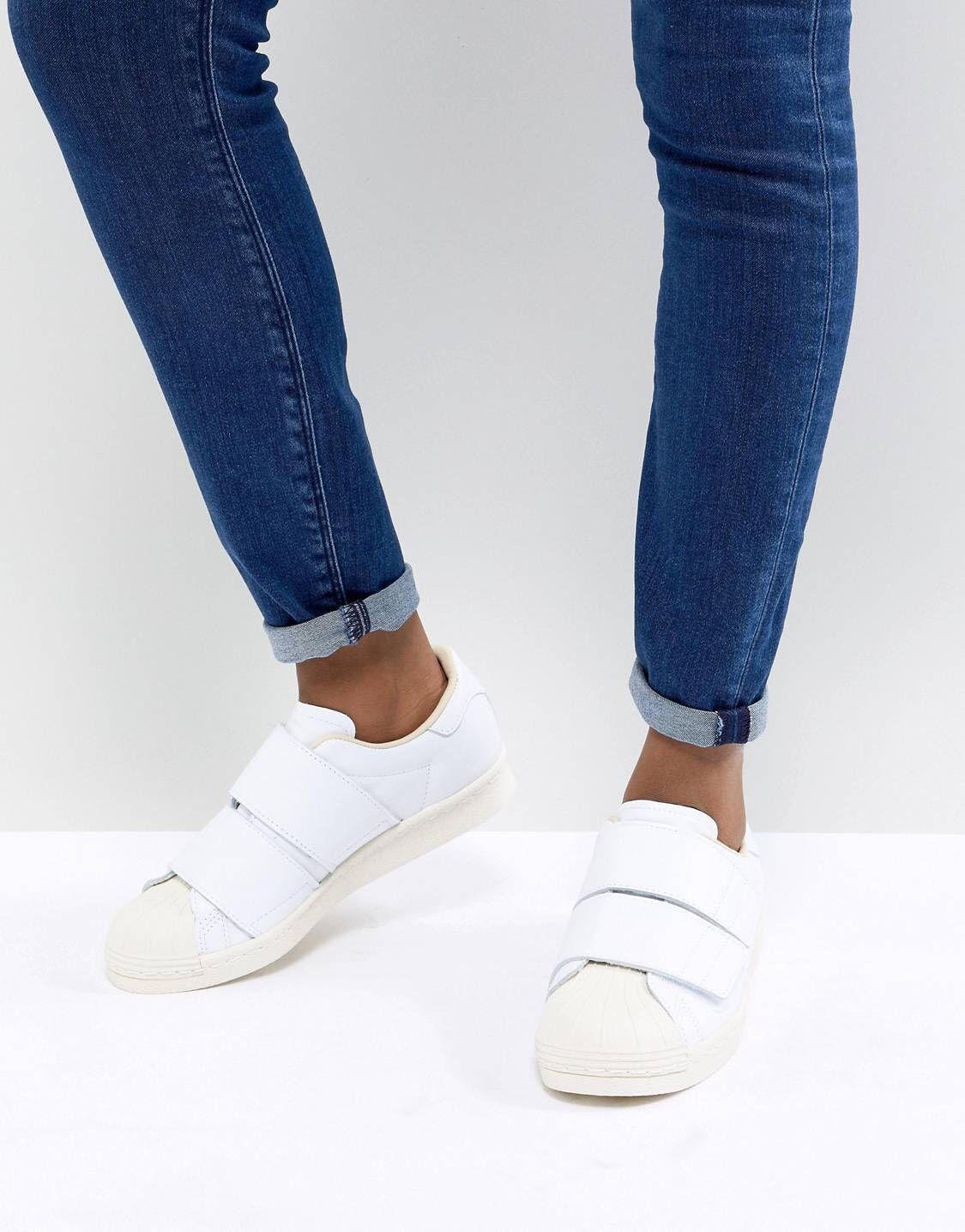 Zapatillas de deporte blancas Superstar 80S Comfort de adidas Originals pVKZ94B