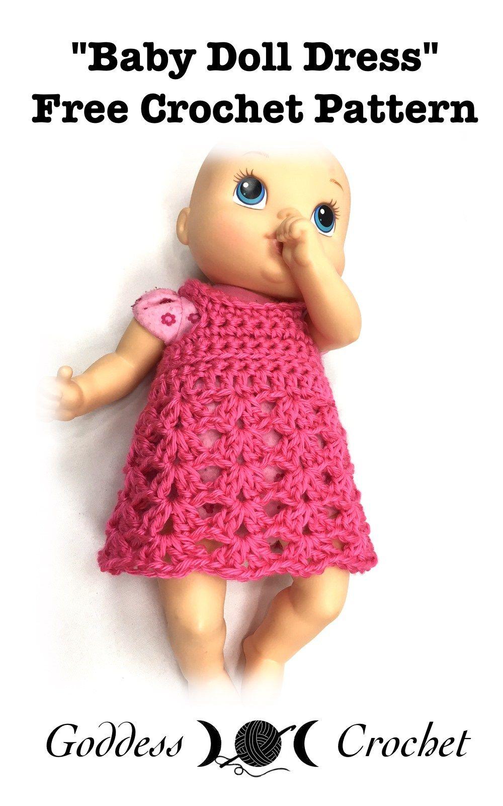 Crochet Pattern Baby Doll Clothes : Baby Doll Dress - Free Crochet Pattern Fiber Arts ...