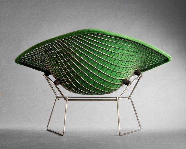 Harry Bertoia, 'Large Diamond Lounge Chair,' C. 1952