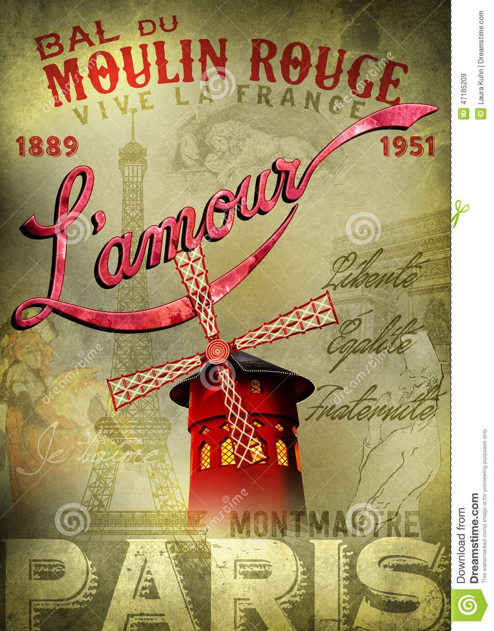 moulin-rouge-l-amour-poster-inspired-lautrec-original ...