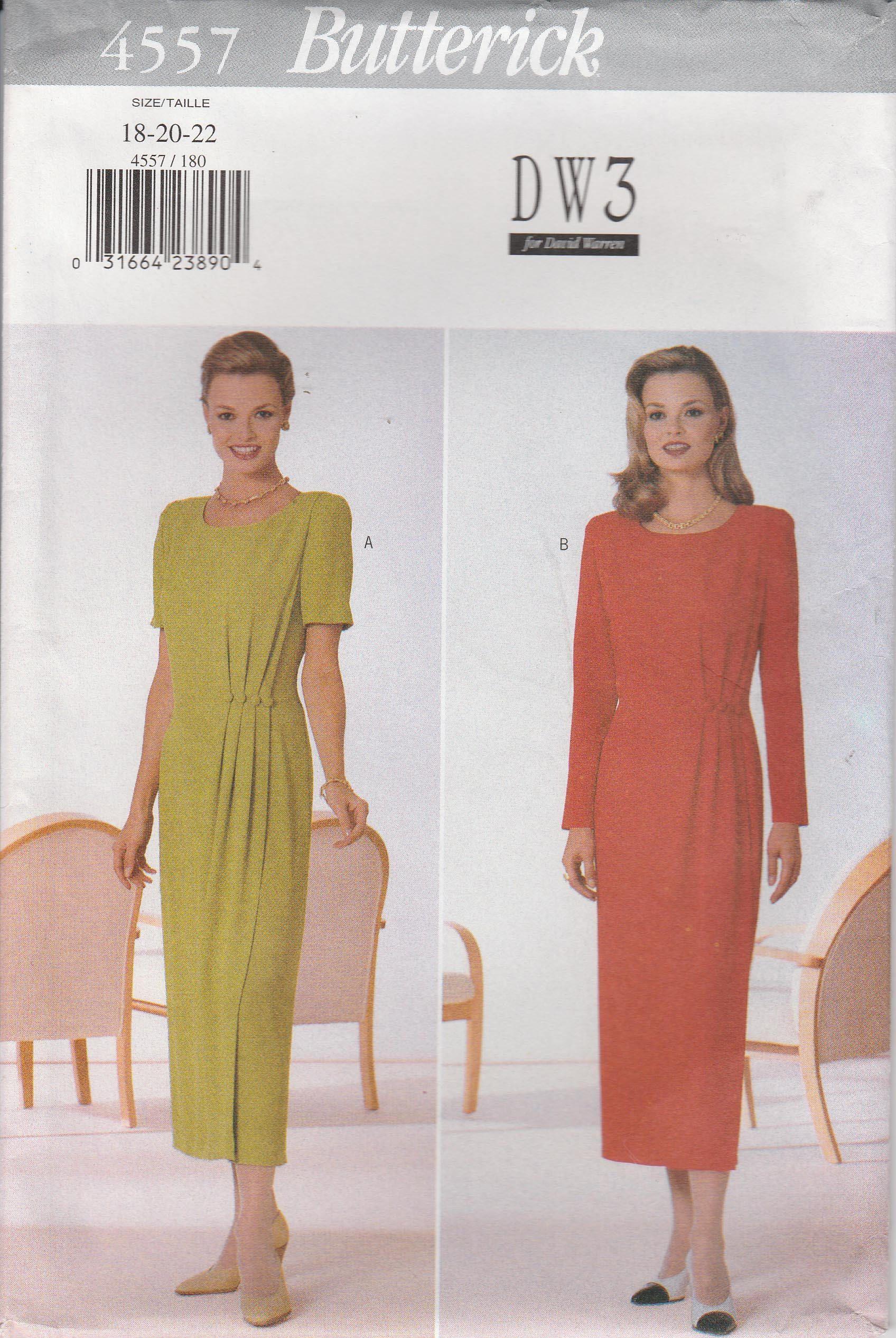 Mock Wrap Dress Pattern Semi Fitted Womans Plus Size 18 20 Etsy Wrap Dress Pattern Mock Wrap Dress Dresses [ 2531 x 1696 Pixel ]