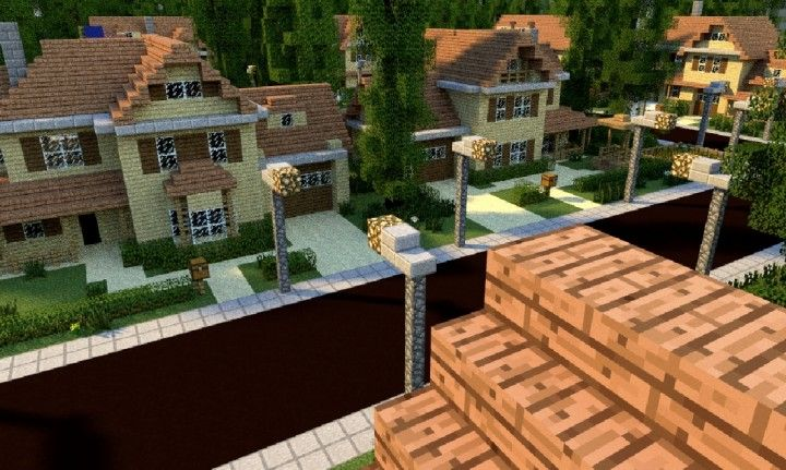 GREENVILLE idyllic village for download Map Schematics minecraft - copy flat world survival map download