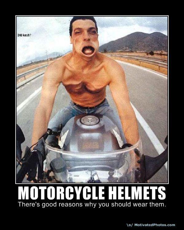 946d0ba35268e281738bf20287e54763 wear a helmet so you don't look like this, ummm errr person?