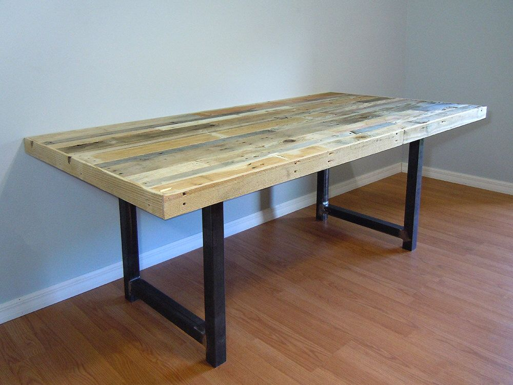 SALE Reclaimed Pallet Dining Table Conference Table Metal