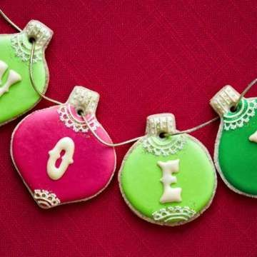 Colorful Cookie Ornaments