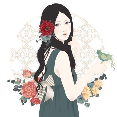 Bird and Flowers - 花と鳥-Katogi Mari
