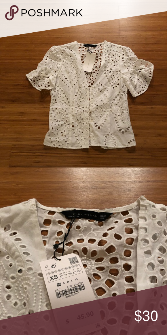 b36d094e10 Zara Eyelet Top NWT Zara Tops Blouses | My Posh Picks | Eyelet top ...