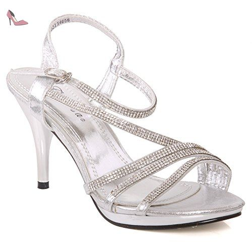 Unze L18829W, Chaussures basses femme - Rouge (L18829W), 36 EUUnze