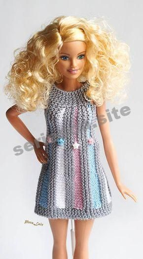 barbie doll clothes, Momoko mini dress, Barbie collectors gift, Knitting, fitting 11.5 in doll dress #crochetedbarbiedollclothes