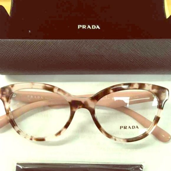 b9aa01d149f5a Prada glasses New Prada glasses with a light pink and turtoise frame. Never  worn, comes with everything you see. Really pretty cat eye glasses Prada ...