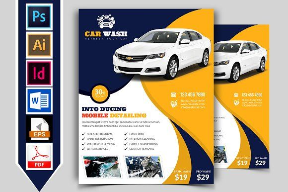 Car Wash Flyer Template Vol-07 by Imagine Design Studio on - car flyer template