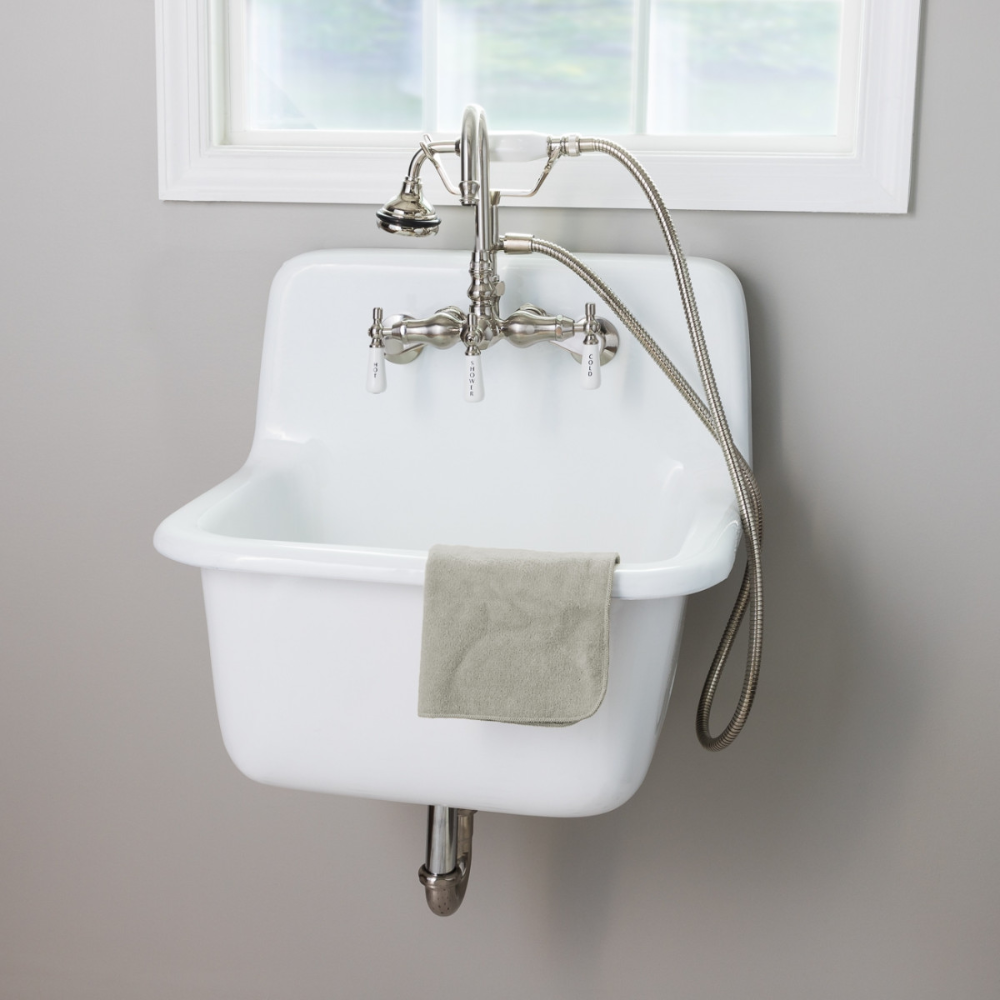 22 Inch Cast Iron High Back Deep Utility Sink In 2020 Utility Sink Laundry Room Sink Sink