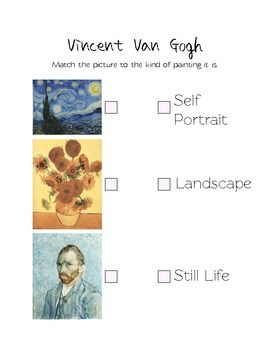 Van Gogh Assessment Warm And Cool Color Art Teaching Resource Lesson Elementary Homeschool Vincent Essay Conclusion My