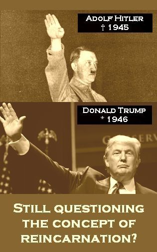 Adolf Hitler, Donald Trump, Reincarnation. Political ArtReality TvBlack ...