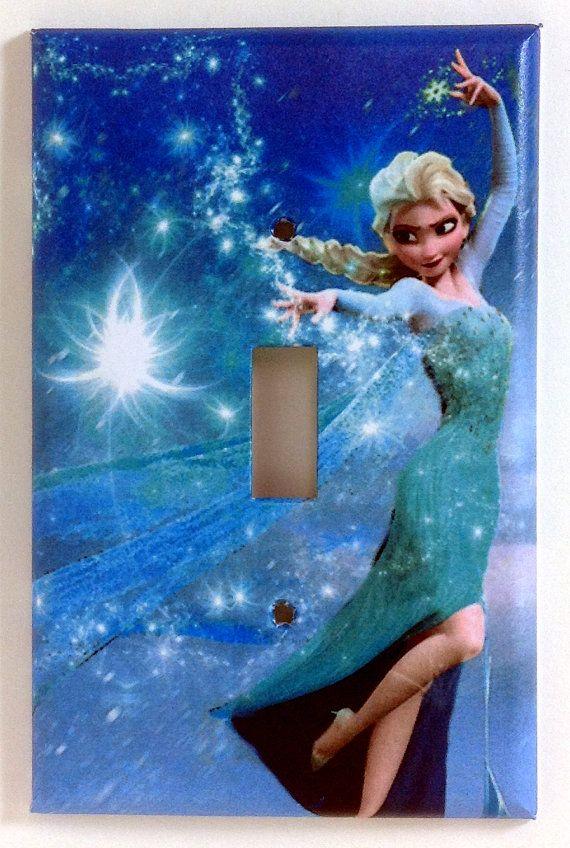 Elsa Frozen Single Light Switch Plate Cover Kids Room Pinterest