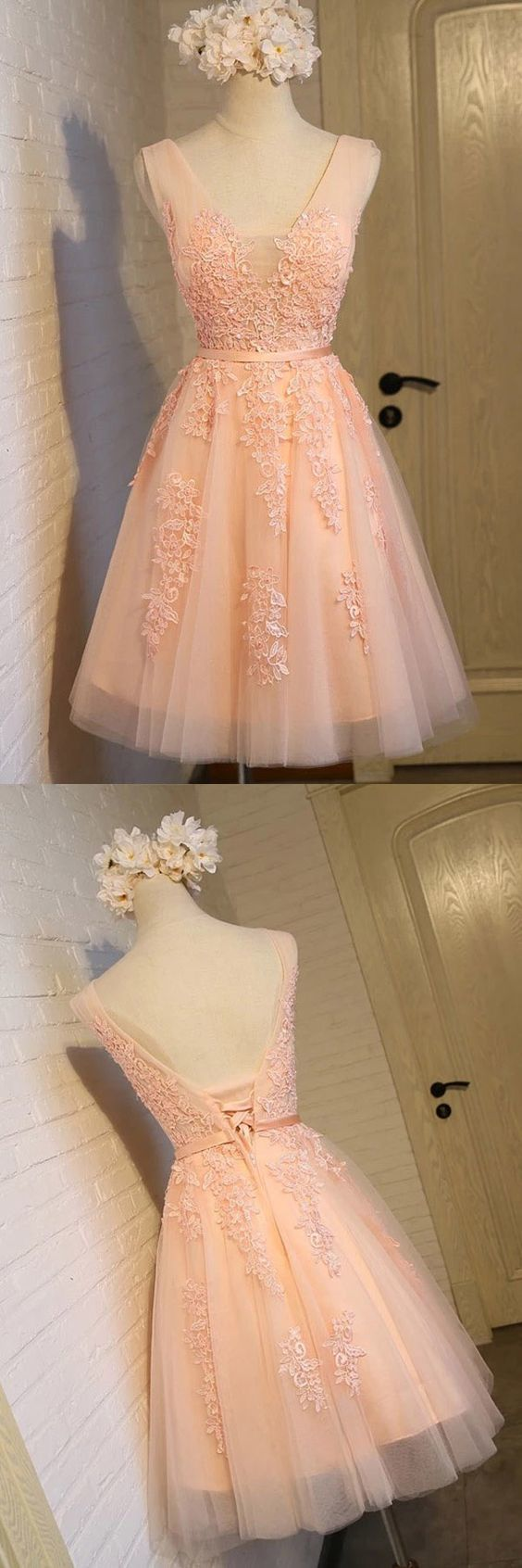 Charming tulle cute homecoming dress short prom dress in