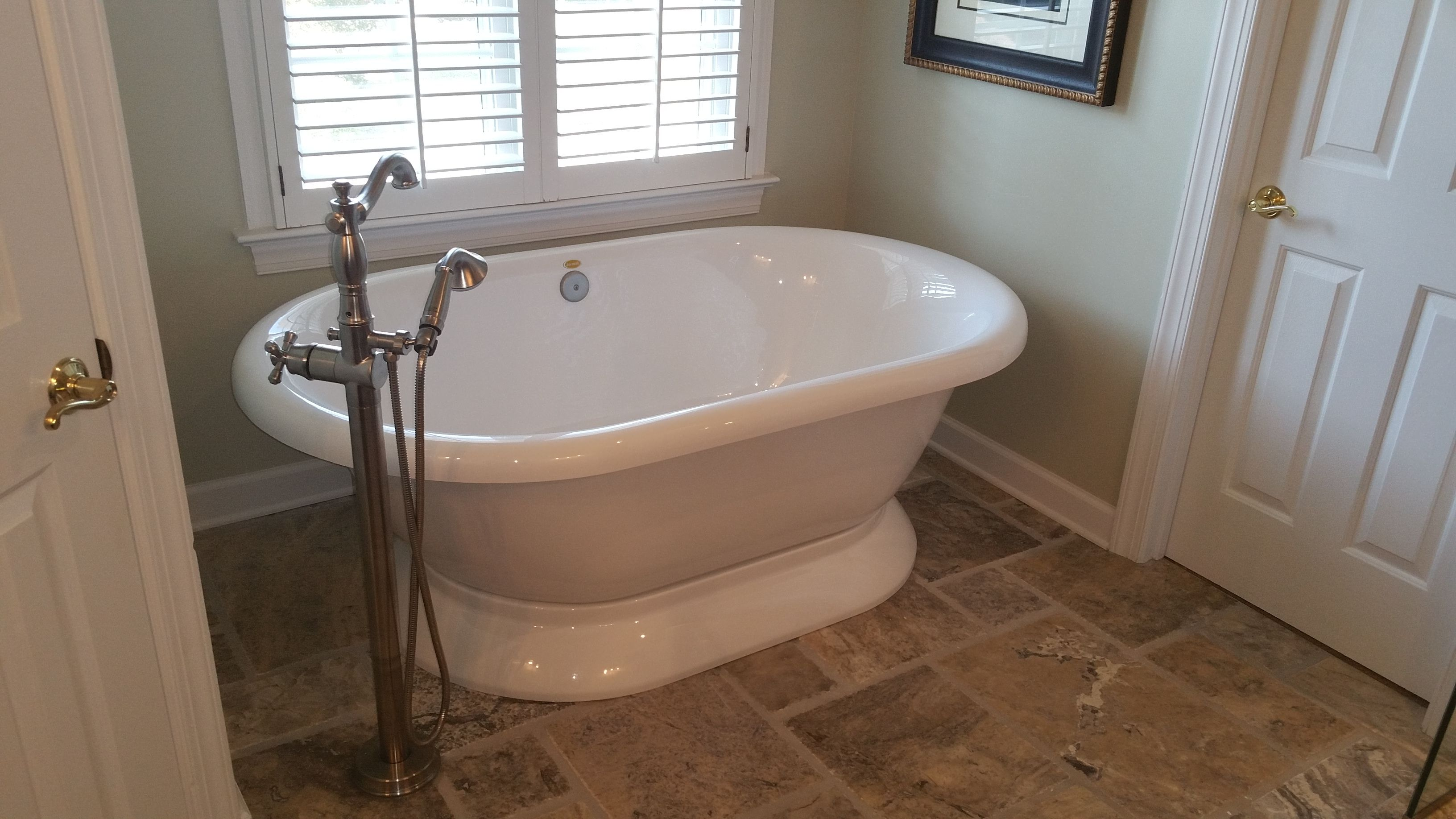 Master Bathroom Tub Tingen Remodeling Cary Nc Brick