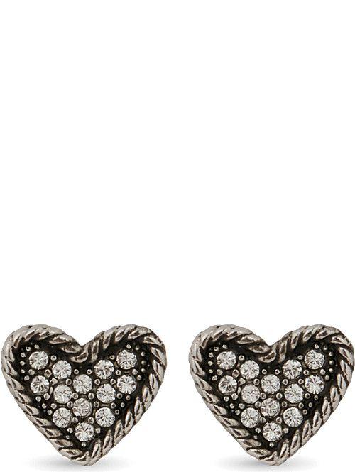 MARC JACOBS Coin heart stud earrings