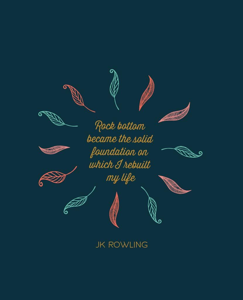 Jk Rowling On Bouncing Back From Failure The Collative Words Of