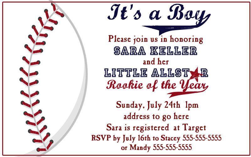 Custom listing for kristintay Baseball Baby shower invites