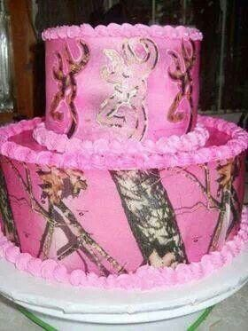 Pink camouflage first birthday cake pinned by lori jo sponseller