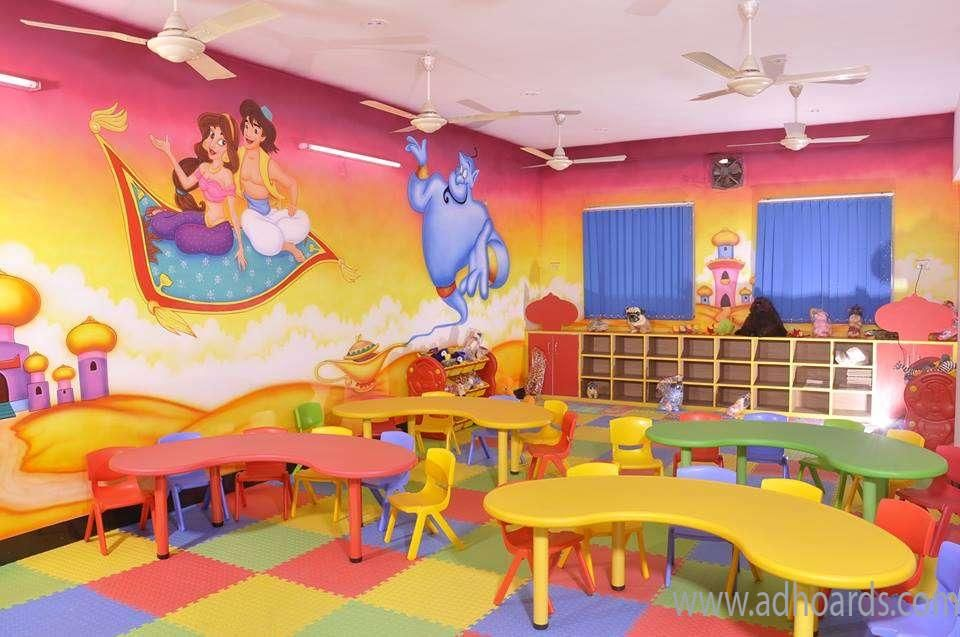 Nursery School Wall Painting Nagpur 3d Wall Painting For Play
