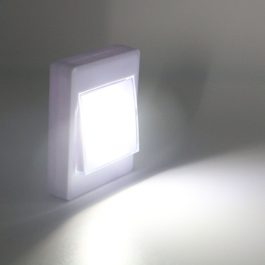 Cob led wall night night lamp aaa battery operated with switch
