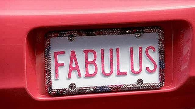 """FABULUS"" License  Plate"