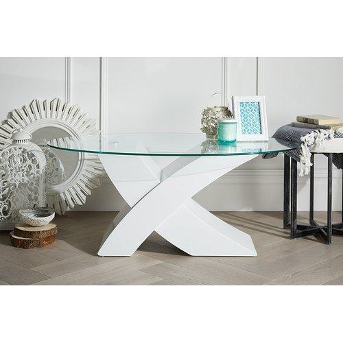 Zipcode Design Cameron Coffee Table Glass Top Coffee Table Oval Glass Coffee Table Unique Coffee Table