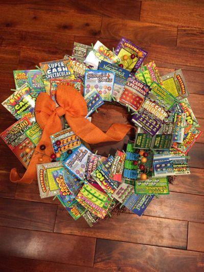 Lottery Wreath Gift Ideas Pinterest Regalos