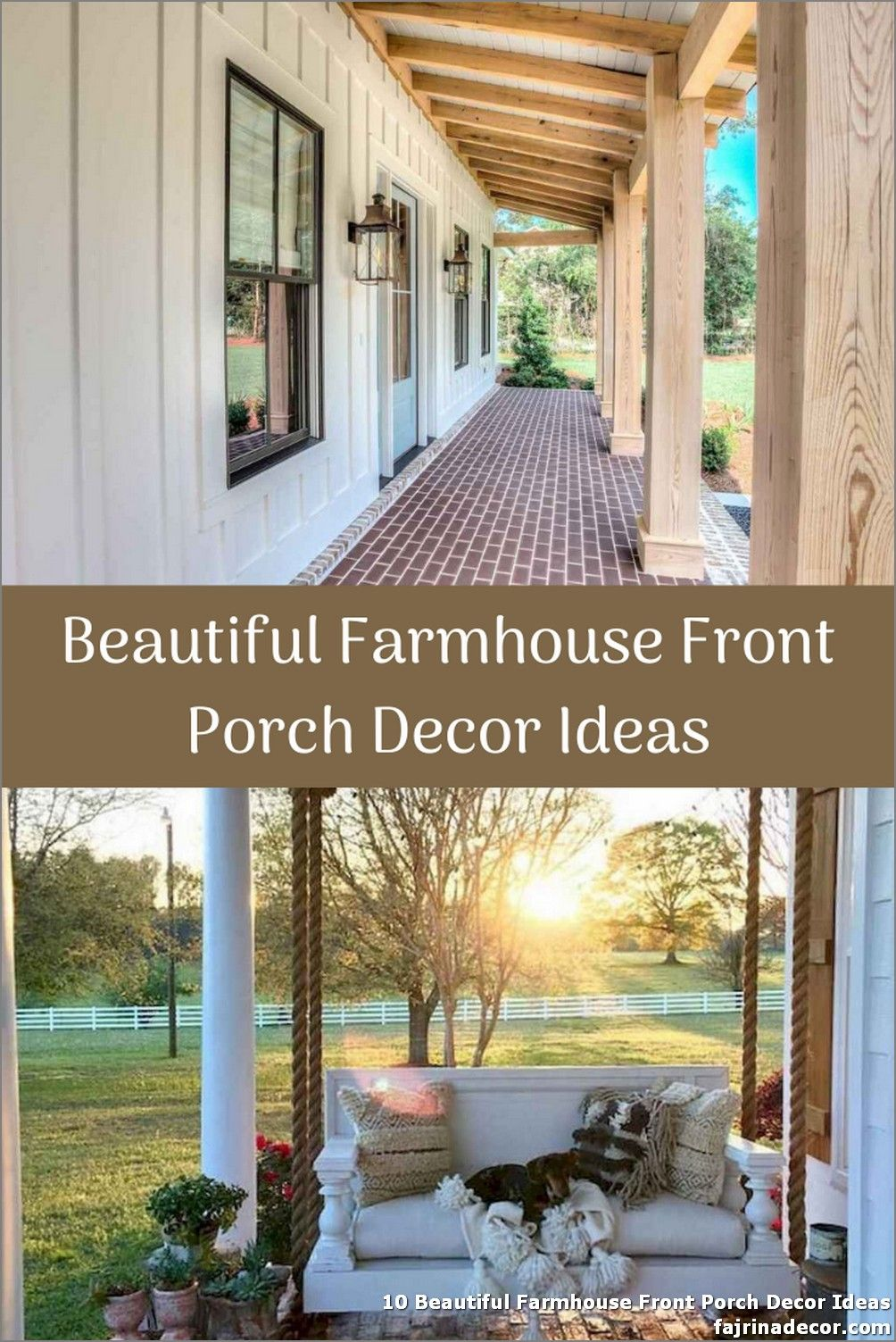 10 Beautiful Farmhouse Front Porch Decor Ideas Unfinished