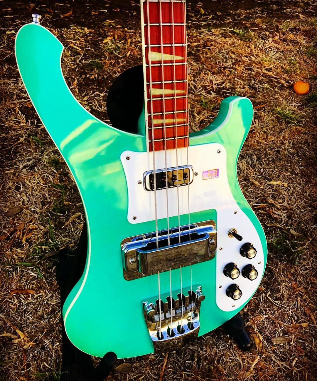medium resolution of bass player magazine a rare rickenbacker 4003 in surf green orangeforscale bassgram instabass bassporn bassplayer bassplayermag