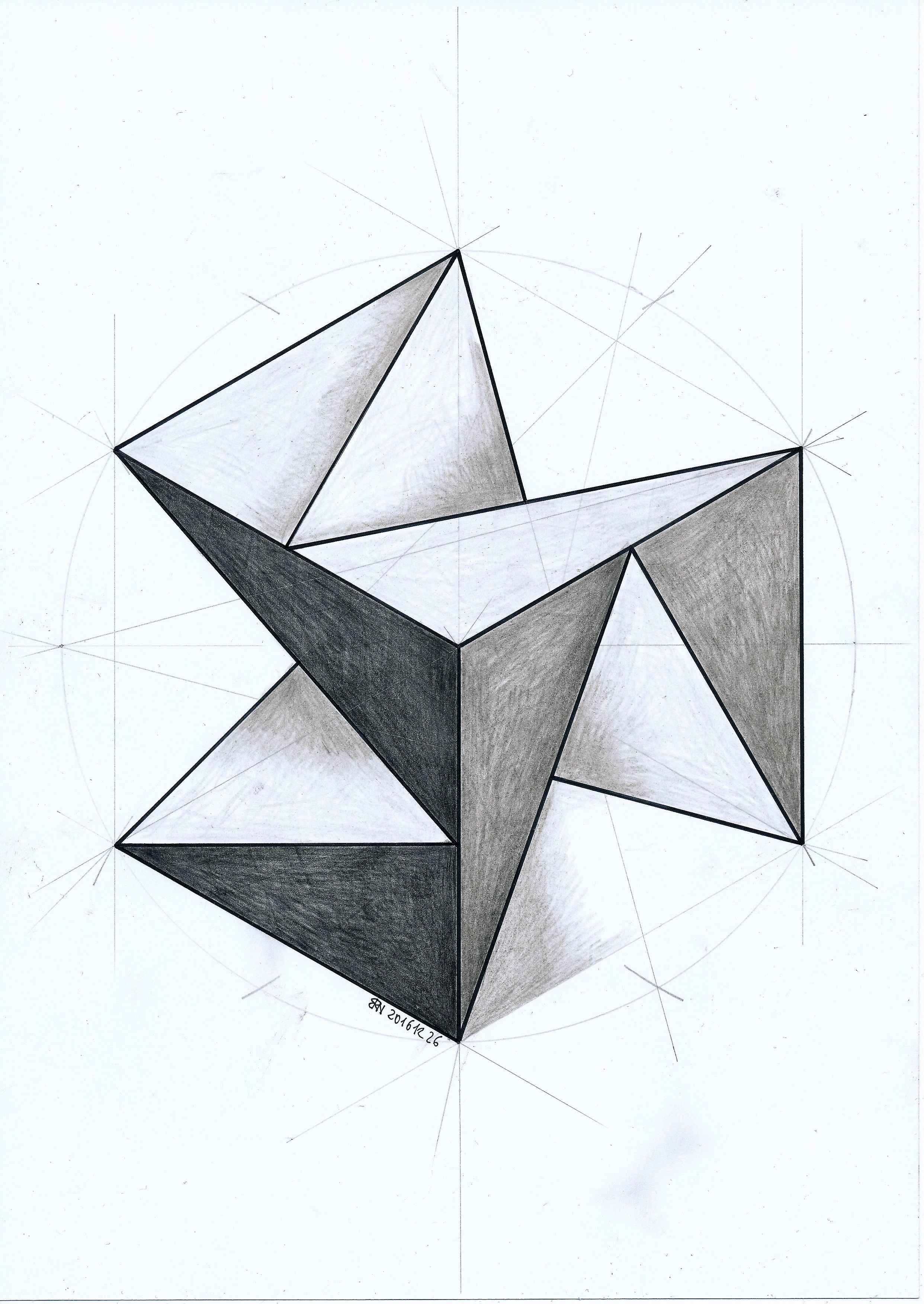#Polyhedra #Solid #Geometry #Symmetry #Pattern #Handmade #Escher #Pastel
