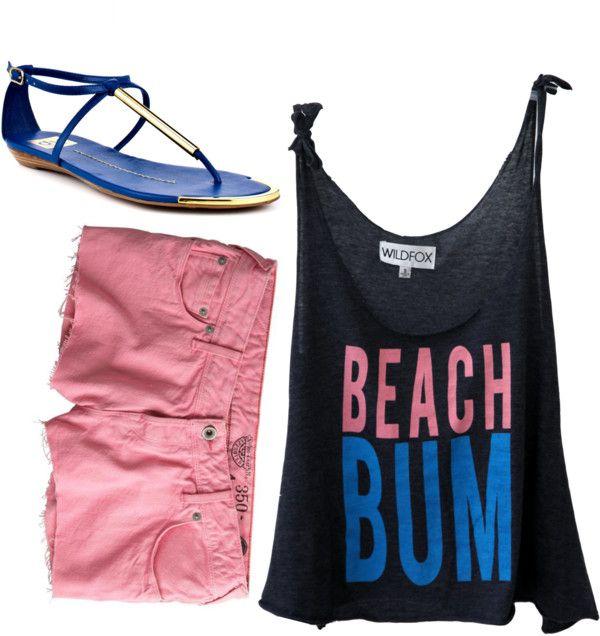 """Beach Bum"" by blondieshay on Polyvore"