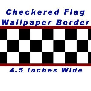 Checkered Flag Cars Nascar Wallpaper Border 4.5 Inch (Red Edge)   Amazon.