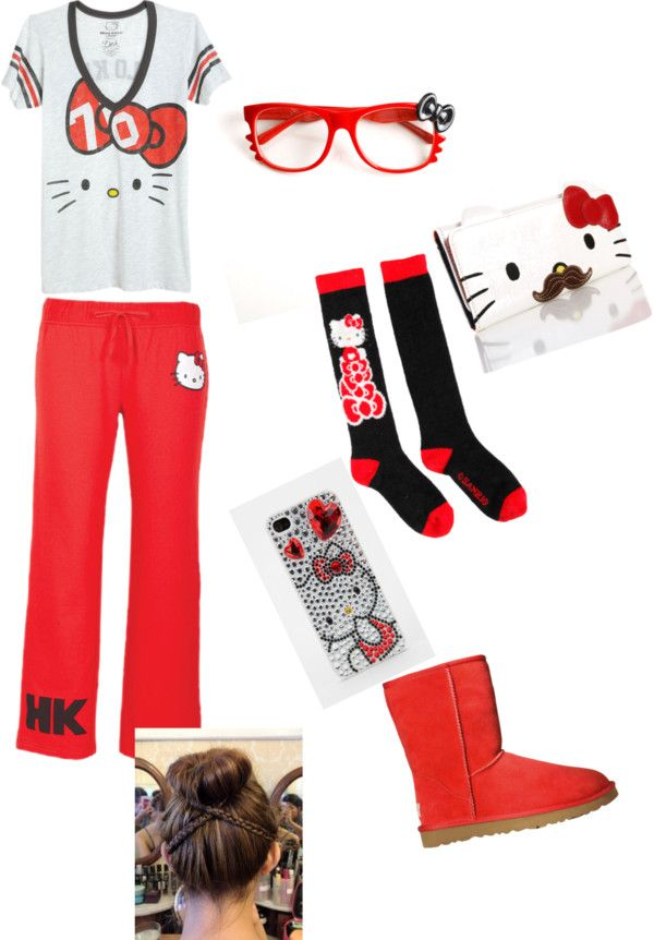 """I Luv hello kitty so much"" by robinsontatyana ❤ liked on Polyvore"
