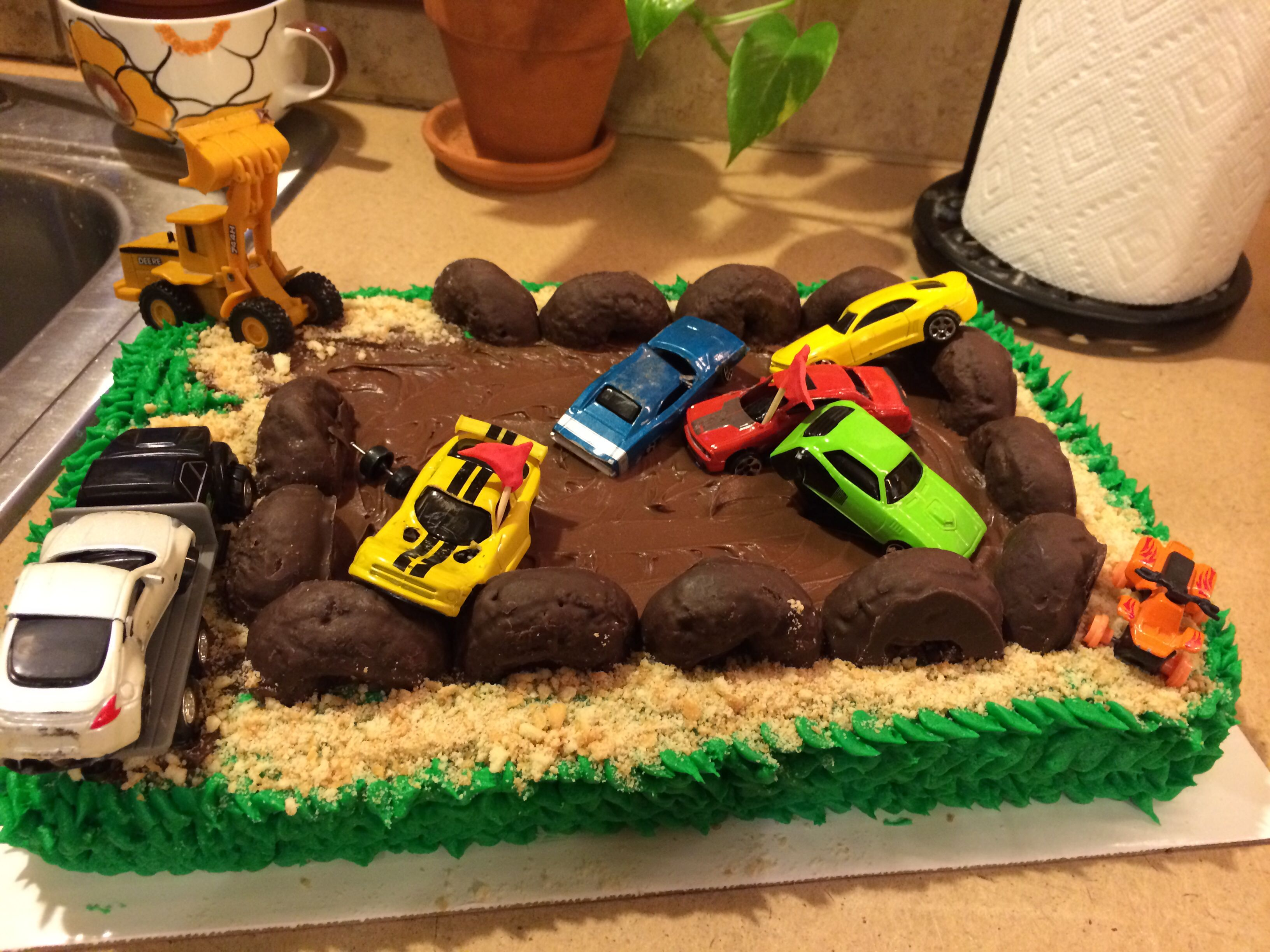 Demolition Derby Birthday Cake My Cakes Pinterest - Children's birthday parties derbyshire