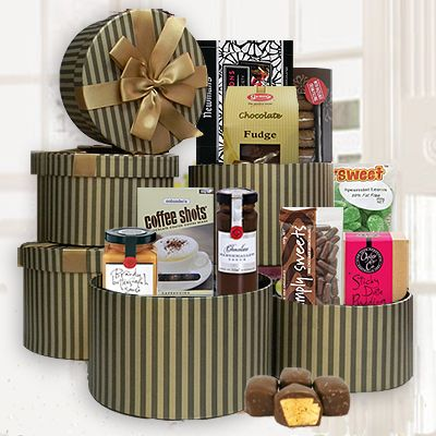 Chocolate tower gift basket gift delivery in melbourne sydney chocolate tower gift basket gift delivery in melbourne sydney and australia 89 negle Choice Image